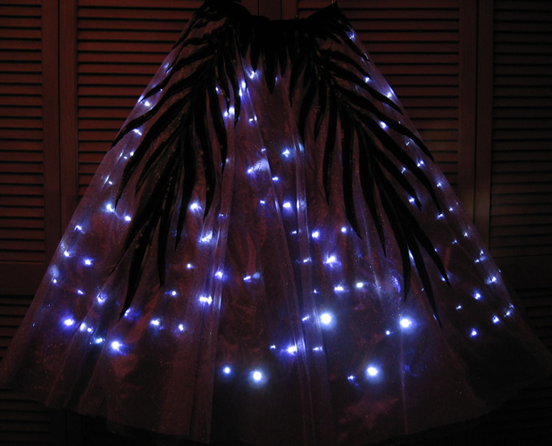 lighted dresses enlighted illuminated clothing