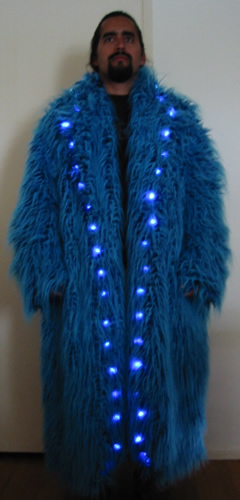 Lighted Faux Fur Enlighted Illuminated Clothing