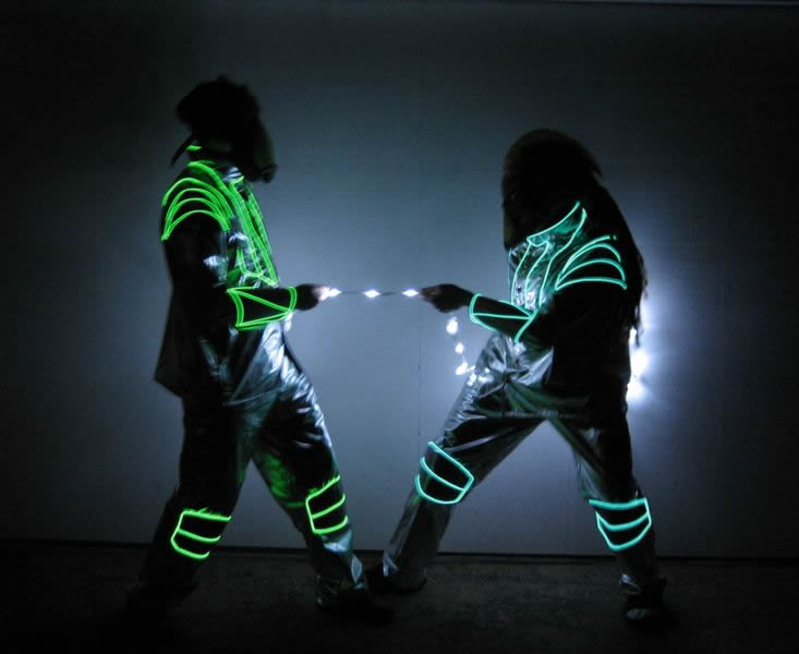 Lighted space suits enlighted illuminated clothing for Space suit fabric