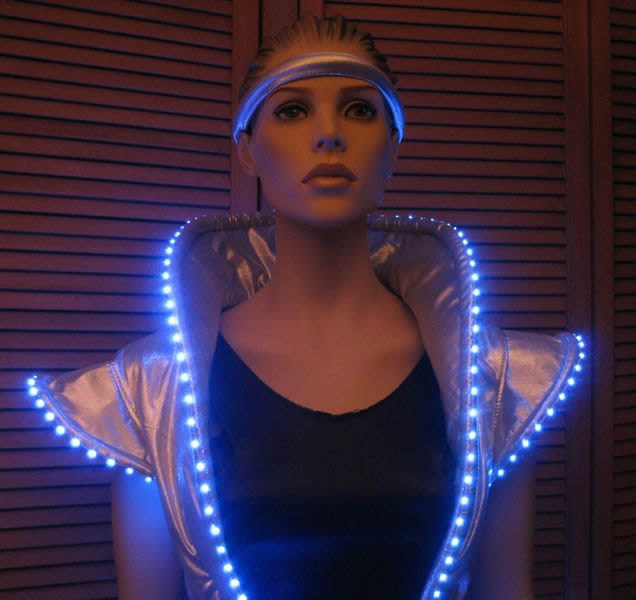 Lighted space dress enlighted illuminated clothing for Outer space outfit