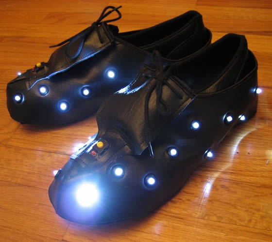 lighted shoes  enlighted illuminated clothing