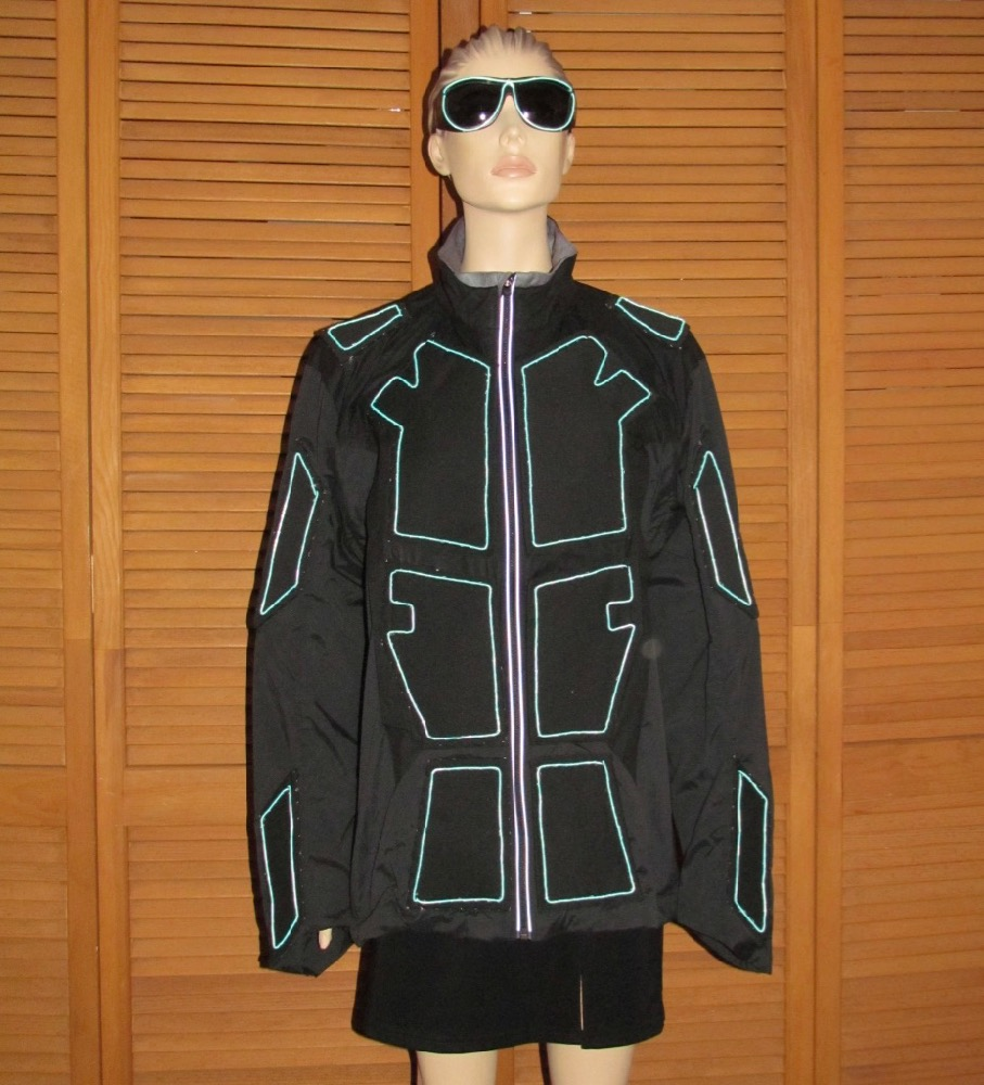 Suit with Aqua EL Wire - Enlighted Designs