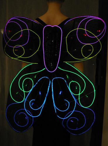EL Wire Wings - Enlighted Designs